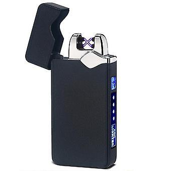 חדש 315-מט שחור אופנה כפולה קשת אלקטרונית מגע חכם בהיר USB אינדוקציה נטענת sm41888