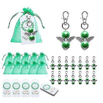 20 σύνολα συμβαλλόμενο μέρος κοσμήματος Κλειδοθήκης αγγέλου Patrick's Δώρα ημέρας, συμπεριλαμβανομένου του πράσινου δώρου