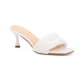 Olivia Miller Womens Half Moon Braided Dress Slide Sandals