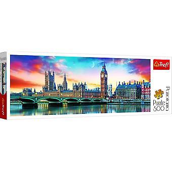 Trefl Panorama Big Ben & Palace Of Westminster Jigsaw - 500 Piece