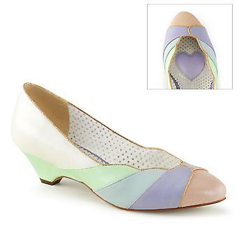 Pin Women's Shoes Up Whit-Mint Multi Faux Leather