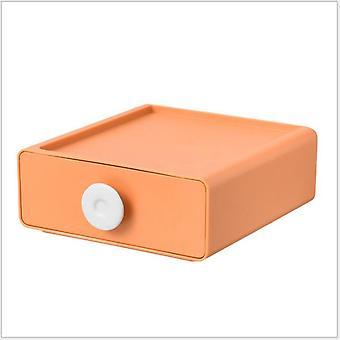 Cajón-estilo caja de almacenamiento caja de almacenamiento pequeño escritorio de taquilla rack acabado gabinete dormitorio