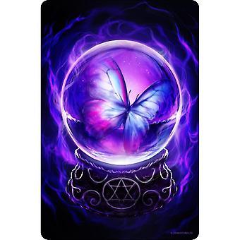 Greet Tin Card Spiritual Butterfly Plaque