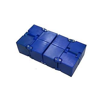 Fingerspids uendelig Rubiks Cube, Ubegrænset Dekompression Rubiks Cube, Håndholdt Legetøj (Blå)