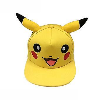 Pikachu Boy Girl Baseball Chapeau Broderie Sports Cap Casual Coton Snapback Hat Flat Brim Mesh