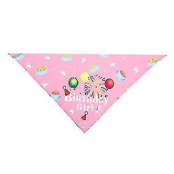 Huisdier verjaardag hoed speeksel handdoek driehoek sjaal huisdier accessoires (roze)