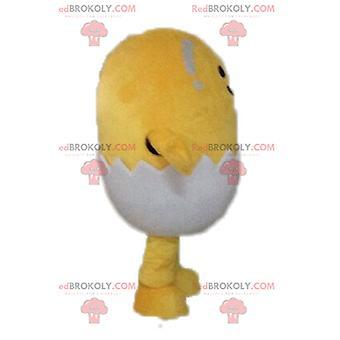 Mascote REDBROKOLY.COM pintinho amarelo em uma carapaça