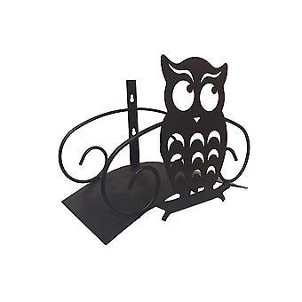 Садовый держатель шланга Открытый настенный монтаж Сова Водопроводная труба Металлическая стойка для катушки