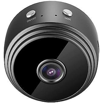 Mini 1080P HD WiFi IP Kamera, 150 Grad Super-Weitwinkel-Nachtsicht (Schwarz)