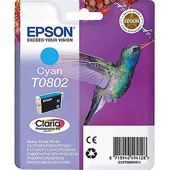 خرطوشة الحبر المتوافقة Epson T0802 سماوي