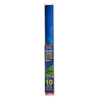 """Penn Plax Double-Back Aquarium Background - Deep Blue Sea / Amazon Waters - 12"""" Tall x 20"""" Wide - (Fits Tanks up to 10 Gallons)"""