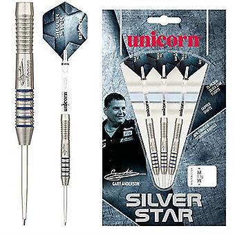 Enhörning Dart Silver Star 2 Gary Anderson 80% Volfram Precision Steel Tip Set