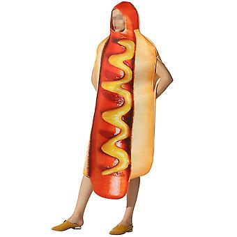 Allthemen Hot Dog Halloween Costume Party Funny Costume Cosplay Set Show Humor Set