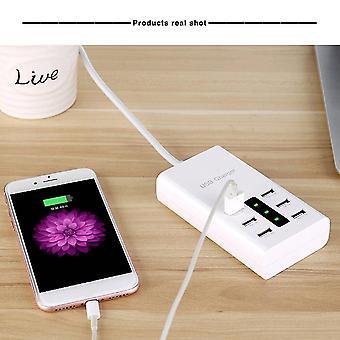 Power control units eu/us/au plug 7.2A output 6 ports usb charger for smart phone for camera