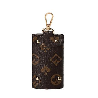 2021 Neue kleine Retro bedruckte Schlüsselanhänger Brieftasche Herren Geldbörse Mini Pu Leder Brieftasche Damen Short Key Brieftasche Münze Mini Tasche