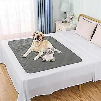 """Waterproof Dog Bed Cover Pet Blanket For Couch Sofa Anti-slip Small Furniture Protrctor(4050"""",grey)"""