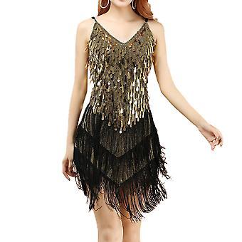 1920-luvun mekko naisille Gatsby Paljetti Tassel Samba Rumba Latin Dance Dress