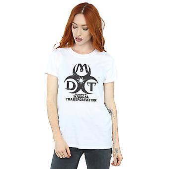 Departamento de la mujer de Harry Potter de transporte mágico Logo novio Fit camiseta