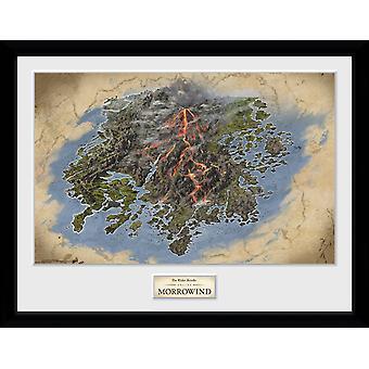 Elder Scrolls Online Morrowind Map Framed Collector Print