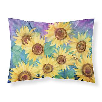 Sunflowers and Purple Fabric Standard Pillowcase