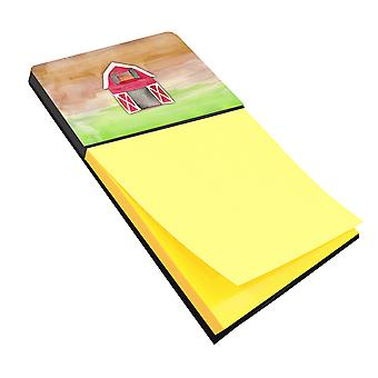 Carolines Treasures  BB7409SN Barn Watercolor Sticky Note Holder