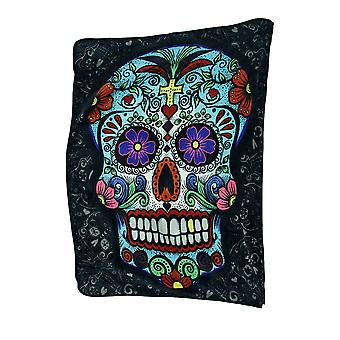 Day of the Dead Sugar Skull Plush Throw Blanket 50 X 60 In.