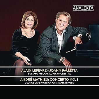 マチュー、アンドレ/ルフェーヴル、アラン/Falletta、ジョアン - アンドレ ・ マチュー: 協奏曲 3 [CD] USA 輸入