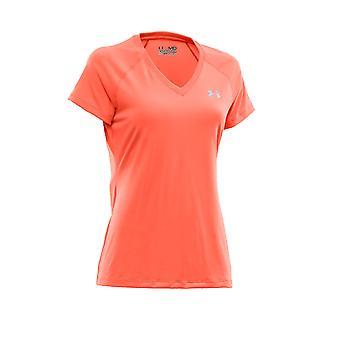 Under Armour Tech lyhyt hiha t-paita naisten [tangerine]
