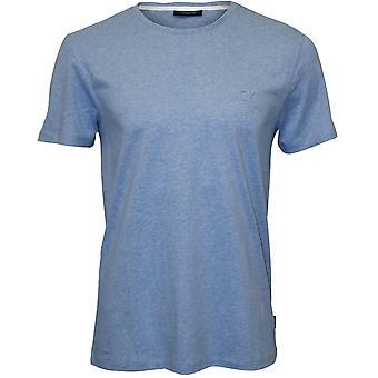 Calvin Klein Jari preget Logo Crew-hals t-skjorte, himmelblå