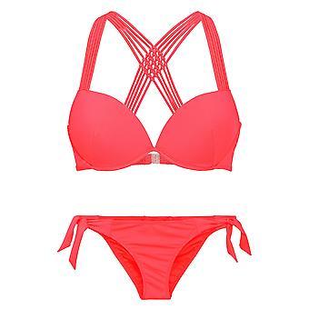 LingaDore 2912-149 Women's Sunrise Granatina Red Solid Colour Swimwear Beachwear Bikini Set
