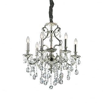 Ideale Lux Gioconda traditionele plafond hanger met Diamante Design 6 licht