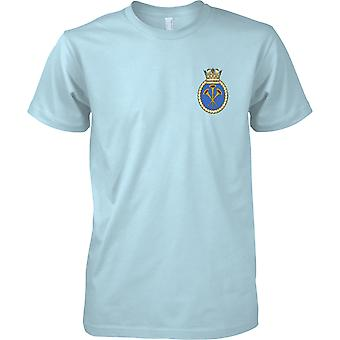 HMS Illustrious - nuvarande Royal Navy fartyg T-Shirt färg