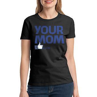 Humor Your Mom Women's Black T-shirt