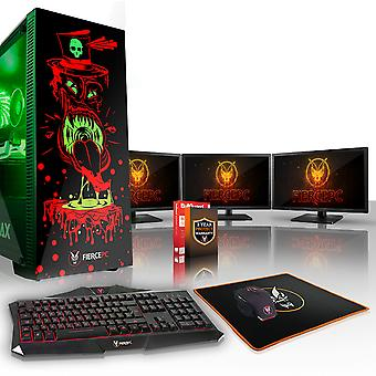 Felle GOBBLER Gaming PC, snelle Intel Core i7 7700 4.2 GHz, 2 TB SSHD, 16 GB RAM, RTX 2060 6 GB