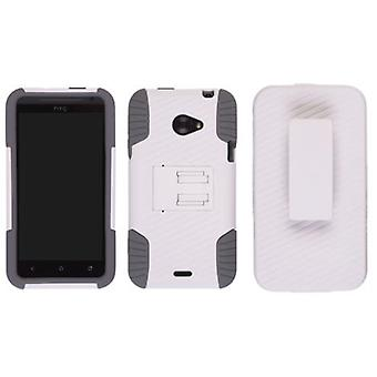 Ventev Edge Holster/Combo Case for HTC EVO 4G LTE - White/Grey
