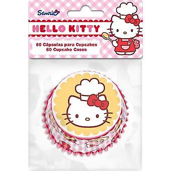 Ensemble de 60 tasses pour Cupcakes Hello Kitty Cake Design