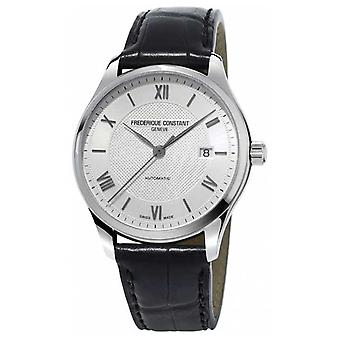 Frederique Constant Mens Classics Index Automatic Black Leather Strap FC-303MS5B6 Watch