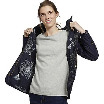 Joules Womens Newdale Printed Quilted Fitted Casual Coat