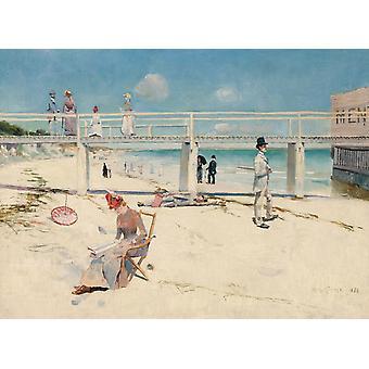 Holiday at Mentone, Charles Conder, 50x40cm