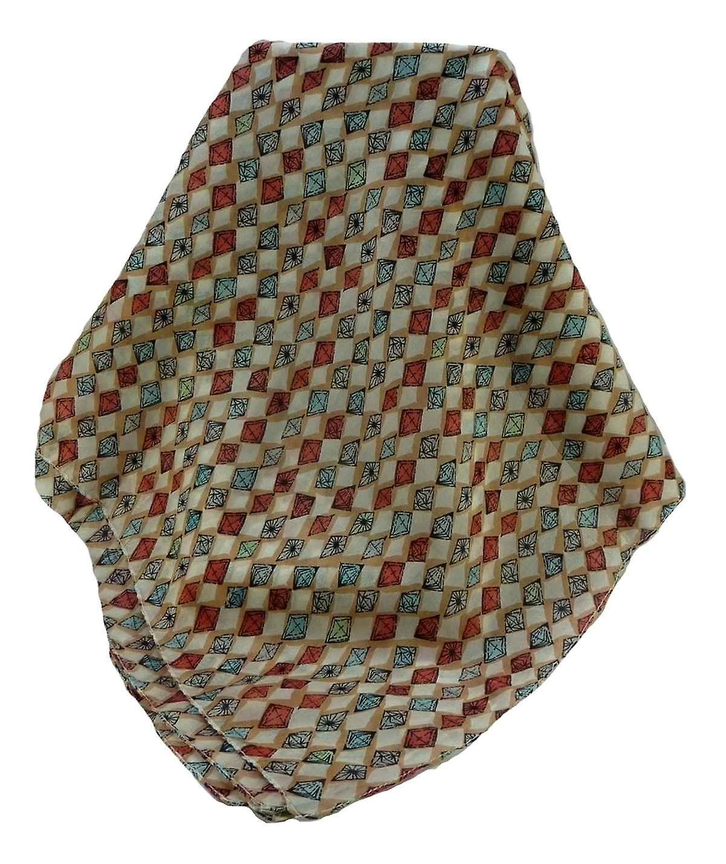 Mulberry Silk Contemporary Square Scarf Geometric G136 by Pashmina & Silk