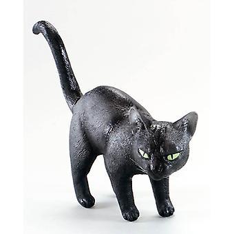 Gatto nero. In gomma.
