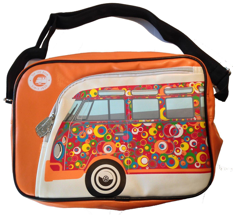 Official VW Camper Van Retro Messenger Shoulder Bag - Orange