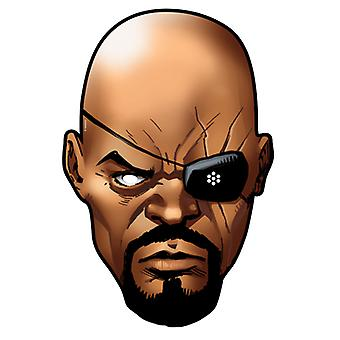 Nick Fury fra Marvel's The Avengers Single Card Party Fancy Dress Mask