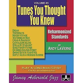 Volume 85: Tunes vous pensée vous saviez (avec CD Audio gratuit): Reharmonized jeu jouer-A-Long livre/CD Standards pour tous les instrumentistes: 85 (série Jamey Aebersold Play-A-Long)