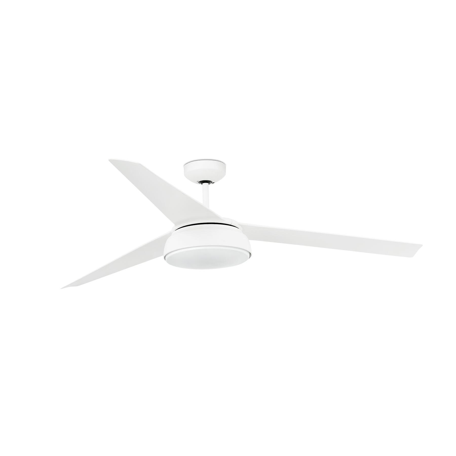 Faro - Vulcano Large White Ceiling Fan With LED Light FARO33549
