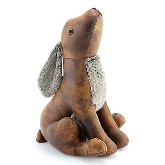 Faux Leather Hare Doorstop