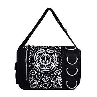 Banned Pentagram Black Messenger Bag
