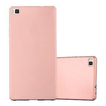 Cadorabo Case för Huawei P8 fall Cover-hardcase plast telefon väska mot repor och stötar-skyddande fall stötfångare Ultra Slim tillbaka fallet hårt omslag