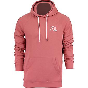 Quiksilver Mens B Logo Fleece Pullover Hoodie - stoffige Cedar-Red