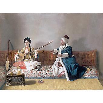 صوره من m. Levett ومن ، جان إتيان Liotard ، 24.7 x 36.4 سم